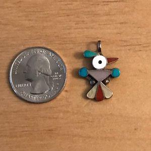 Jewelry - Zuni Indian inlaid thunderbird pendant sterling